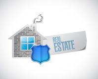 Real estate sign illustration design Stock Photos