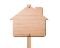 Real estate sign isolated. Royalty Free Stock Photos