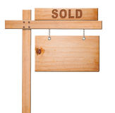 Real estate sign isolated. Stock Photos