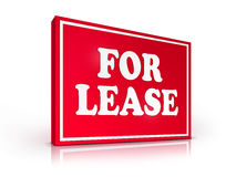 Real Estate Sign - For Lease. On White background. 2D artwork. Computer design Royalty Free Stock Images