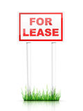 Real Estate Sign - For Lease Royalty Free Stock Images