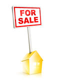 Real Estate Sign - For Sale Stock Image