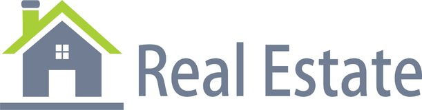 Real estate and logo image Stock Images