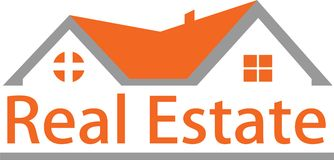 Real estate and logo images Stock Image