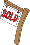 Real Estate Sign Sold. Image of a Sold Real Estate Sign Royalty Free Stock Photo