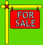 Real Estate signent Illustration Stock
