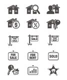 Real estate silhouette icon Stock Photos