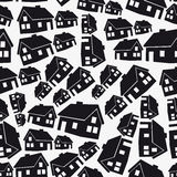 Real estate simple house pattern eps10 Royalty Free Stock Image