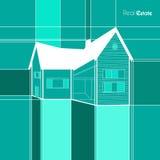 Real Estate skissar huset Arkivbilder