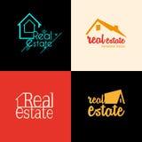 Real Estate skissar uppsättningen Arkivfoto