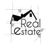 Real Estate skizzieren Geschäftshintergrund Lizenzfreie Stockfotografie