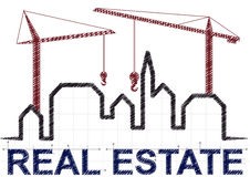 Real estate skyline Royalty Free Stock Photos