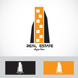 Real estate skyscraper logo Stock Images