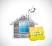 Real estate smart investment illustration. Design over white Stock Images