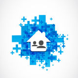 Real estate social network Stock Photo