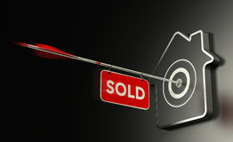 Free Real Estate Sold Concept, Efficient Sale Strategy. Stock Photography - 84005912
