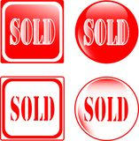 Real estate sold sign Stock Photo