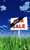 Real Estate Sold Sign in Grass Royalty Free Stock Image
