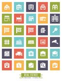Real estate square color icons Stock Photo