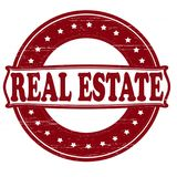 Real estate. Stamp with text real estate inside, illustration Stock Photography