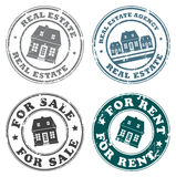 Real estate stamps Stock Image