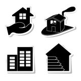 Real Estate. Stickers about real estate and ecological Royalty Free Stock Photography