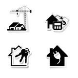 Real Estate. Stickers about real estate and ecological Stock Photos