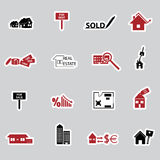Real estate stickers eps10 Royalty Free Stock Photography