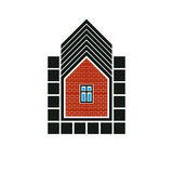 Real estate stylized business icon, vector abstract house constr Royalty Free Stock Photos