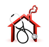 Real estate suffering concept with a Stethoscope Royalty Free Stock Photography