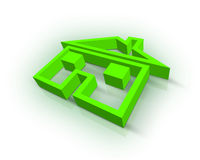 Real Estate symbol. Beautiful 3d green Real Estate symbol Stock Image