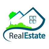 Real estate symbol. For business, sale and rental housing Stock Image