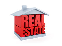 Real estate symbol. 3d rendering Stock Photos