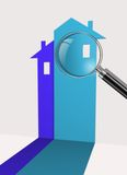 Real estate symbol icon. Made in 3d software Royalty Free Stock Photos