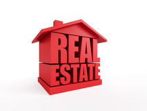 Real estate symbol. Isolated 3d rendering Stock Image