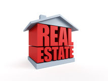 Real estate symbol. Isolated 3d rendering Royalty Free Stock Photos