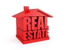 Real estate symbol. Isolated 3d rendering Stock Images