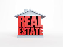 Real estate symbol. Isolated 3d rendering Royalty Free Stock Photography
