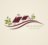 Real Estate-Symbole für geschäftliche Zwecke Stockbilder
