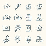 Real Estate symboler vektor illustrationer