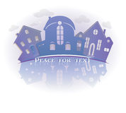 Real estate symbolical image isolated on white background. Vintage  icon of  houses. Royalty Free Stock Photos