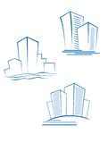 Real estate symbols Royalty Free Stock Images