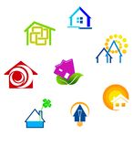 Real estate symbols royalty free stock photos