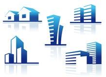 Real estate symbols Royalty Free Stock Photos