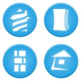 Real estate symbols Royalty Free Stock Photography