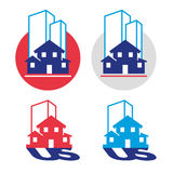 Real-estate-symbols Royalty Free Stock Photography