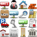 Real Estate symbolsuppsättning royaltyfri illustrationer