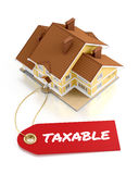 Real Estate Taxation. Illustration on the subject of Real Estate. 3D rendering graphics on white background Royalty Free Stock Photography