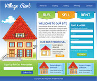 Real Estate template Royalty Free Stock Image
