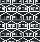 Real estate theme symmetric vector seamless pattern, abstract ho Royalty Free Stock Photo